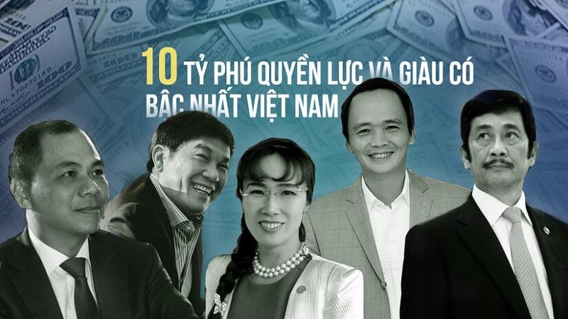 10 người giàu nhất việt nam hiện nay