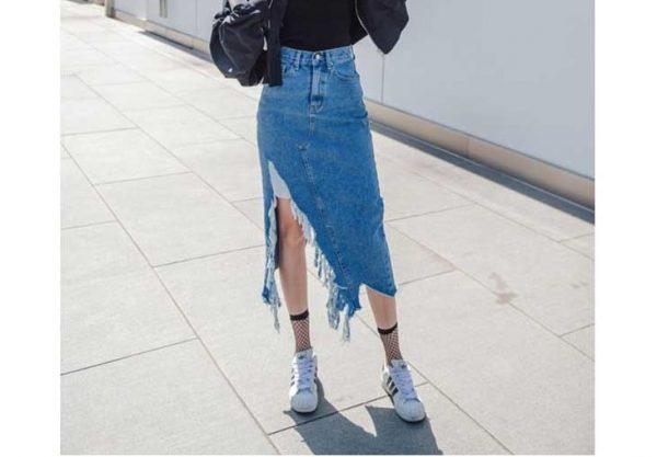 cách phối với chân váy jean dài, chân váy jean, chân váy jean dài, chân váy jean dài phối với áo gì, chân váy jean dài xẻ tà, chân váy jean dài qua gối, chân váy jean dài chữ a, chân váy jean dài kết hợp với áo gì, phối chân váy jean dài , chân váy bò, chân váy bò dáng dài