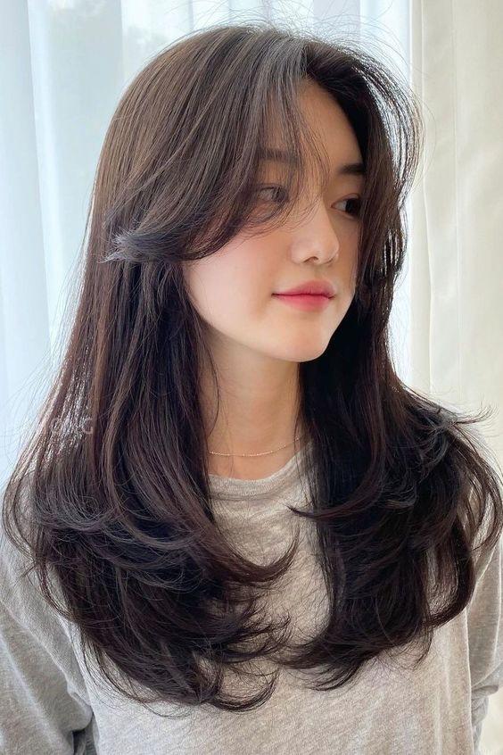 tóc uốn chữ c tỉa layer