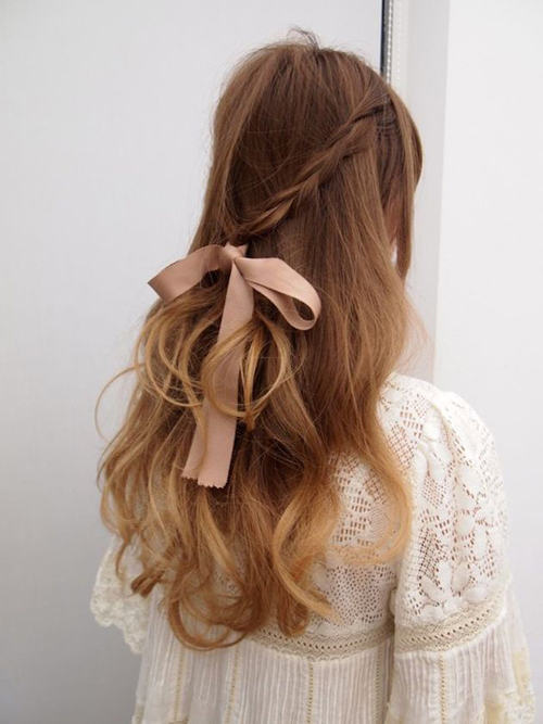 tóc uốn xoăn nhẹ
